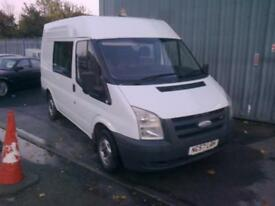 Ford Transit 2.2TDCi ( double cab 6 seater ) Duratorq 85PS 280S Medium Roof SWB