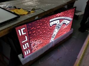 "Upcycled 2017 65"" LG MANCAVE SIGNS !!! One of A Kind....."