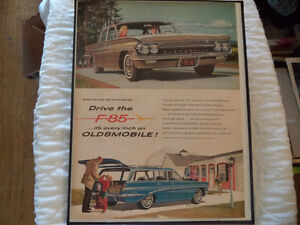 OLD OLDSMOLBILE  CLASSIC CAR FRAMED ADS Windsor Region Ontario image 9