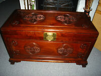 Chinese hand carved Rosewood chest
