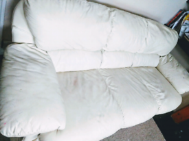 """""""Price Reduced"""" Three seater Long Leather sofa"""