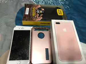 Iphone 7plus 128gb Rogers Rose gold