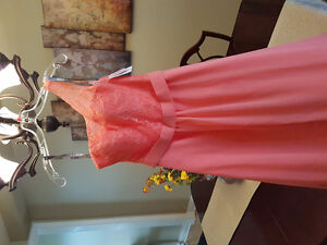 NEVER WORN TAG STILL ON CORAL BRIDESMAID GOWN