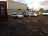 Parking storage available for cars vans £25 a week