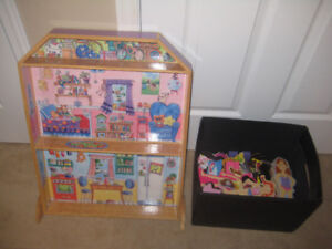 Magnetic Dollhouse with tons of accessories and dolls