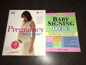 Pregnancy Day by Day and Baby Signing 1 2 3 Books