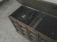 Mid 70's Console Cabinet AM/FM Stereo BSR Turntable