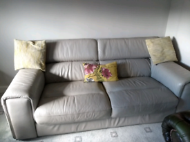 Grey Leather Sofa For Sale In Scotland Sofas Couches Armchairs Gumtree