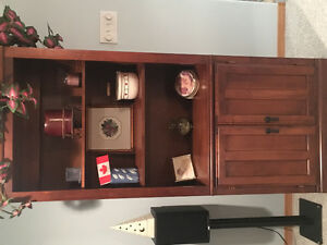 Like new book case with 2 drawers on the bottom.