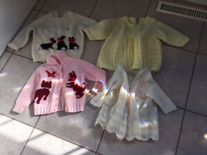Lot of 4 Knitted Sweaters & cardigans