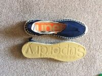 Superdry espadrilles size 10 x 2 blue and black