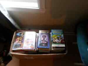 Lot of 111 vhs movies