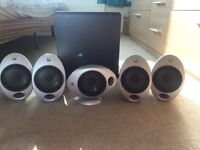 KEF surround sound speakers & sub