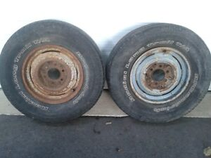 VINTAGE 6 LUG CHEVY CLIP WHEELS