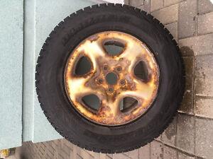 Blizzak tires on rims for sale