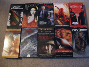 10 Action Movies on VHS TAPE for $5