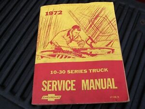 1972 chevrolet pick up truck service manual