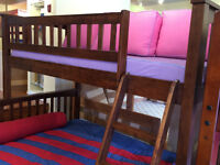 Hardwood Single / Double- Mission - Merlot- by Bunk Beds Canada