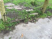 Great antique iron fence