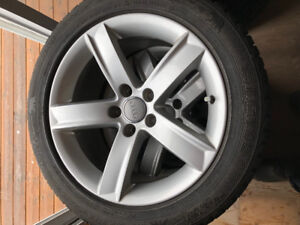 """Factory Audi 17"""" Rims and 225/50R17 Gislaved Nordfrost Tires"""