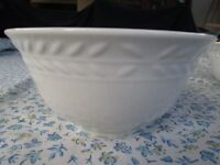 2 White Gibson Soup / Cereal Bowls
