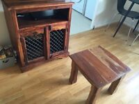 Real Teak TV cabinet and coffee table