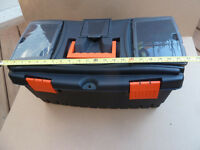 Toolbox - Plastic, orange clasp, 22""