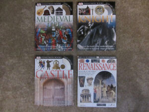 4 Eyewitness Books Medieval Life, Knight, Castle, Renaissance