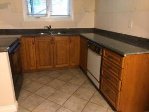 Oak Kitchen Cabinets, Granite Countertop, Sink & 2 Appliances