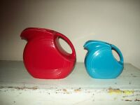 FIESTA JUGS x 2 PIECES LARGE RED AND A SMALL BLUE