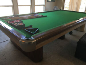 1950's Anniversary Brunswick pool table