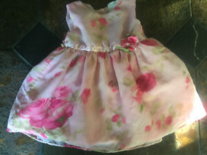 Pink floral dress - size 16lbs