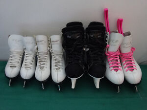 CCM and Bauer Skates from sizes 1 to 4