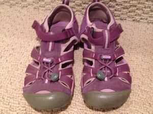 3 pairs girls' size 2 - sneakers, dress shoes, sandals