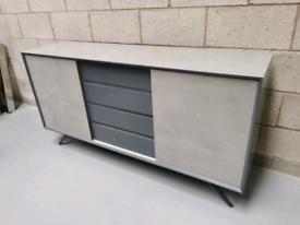 Furniture Village Maverick Modern Industrial Concrete Effect Sideboard
