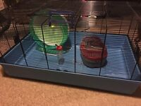 Large Hamster Cage & wheel & travel carrier