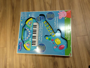 Unsealed  Peppa Pig Electronic Keyboard andGuitar