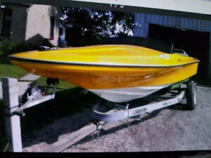 17.5 speed boat with 302 inboard outboard