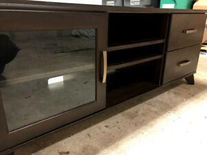 TV stand, table for 40-65 inch TVs, solid wood with shelves!