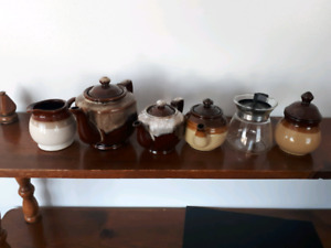 Six different items two small teapots 1 million petite part 1 co