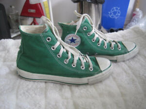 Converse All Stars Green Canvas Hi-Tops Unisex Sneakers