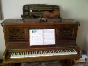 PIANO, Apartment Size, Handcarved Facing