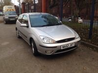 Focus 1.6 petrol. 3 door hatch.2002 52. MOTD leather seats £425
