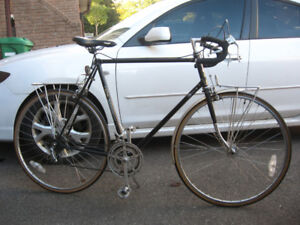 Extra Large Black Peugeot 12 Speed w/ Front n' Rear Racks