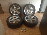 "Lexus is200 17"" alloy wheels set just painted good tyres 4mm+ 225 45 17 can post is 200 is300 toyota"