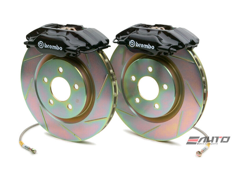 Brembo Front Gt Big Brake Bbk 4piston Black 330x28 Slot Disc Rotor Mustang 94-04