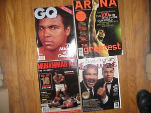 MUHAMMAD ALI..... 5 RARE Magazines from 1998 to 2003