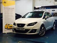 SEAT IBIZA1.4 ( 150ps ) SPORT COUPE DSG 2010MY FR PANORAMIC ROOF WHITE