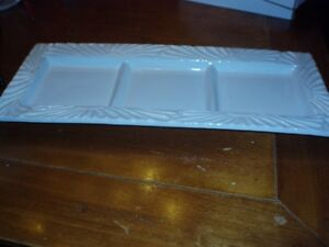 WHITE DISHES---NEVER BEEN USED** would make  nice gifts