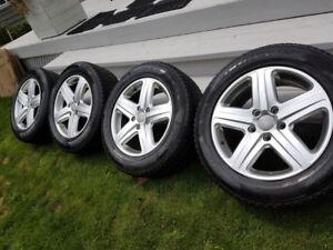 Pirelli Winter Tires with Audi Q7 Rims-includes 4 Q7 winter matt